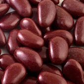 1kg box of burgundy sugared almonds