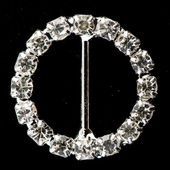 10 medium diamante round buckle