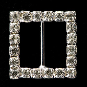 10 medium diamante square buckle