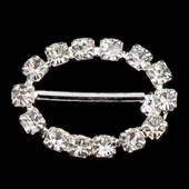 10 small diamante oval buckle