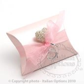 pink satin pillow box