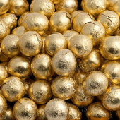 100 gold foiled chocolate balls