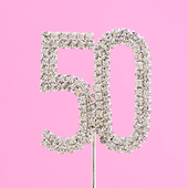 diamante number 50 cake topper