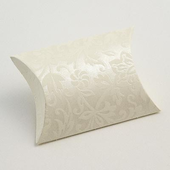 Ivory Diamante Pillow / Pouch Wedding Favour Boxes