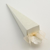 Ivory Diamante Confetti Cone Wedding Favour Box