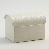 Luxury Diamante Ivory Chest Wedding Favour Boxes