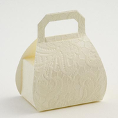 Macrame cream handbag favour