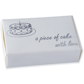 off white silk piece of cake box