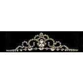 Rhodium diamante tiara