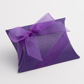 purple pillow favour box