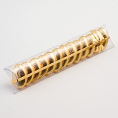 clear tube favour box with gold design (L)