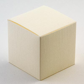 Ivory silk small cube