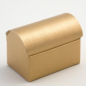 Gold Silk Chest Wedding Favour Boxes