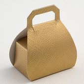 Gold Silk Hand Bag Wedding Favour Boxes