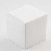 white silk small cube cupcake box