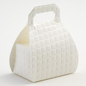 Off White Quilted Handbag Favour Box