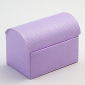 Lilac Silk Chest DIY Favour Box.