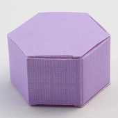 Lilac Silk Hexagonal DIY Favour Boxes