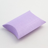 Lilac Silk Pillow Favour Boxes