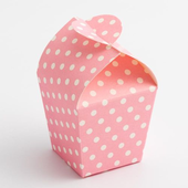 polka dot pink mini favour box
