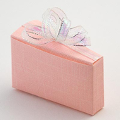 Pink Silk Wedding Cake Box