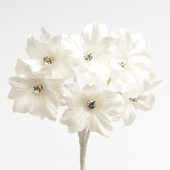 Ivory Margherita flower with diamante centre