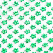 Emerald - 6mm self adhesive daisy acrylic flower