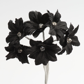 Black Margherita flower with diamante centre