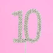 diamante cake number 10
