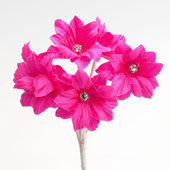 Cerise Margherita flower with diamante centre