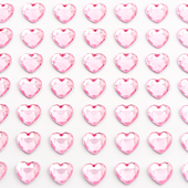 Pale pink - 6mm self adhesive diamante heart
