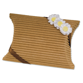 Brown Corrugated Pillow Wedding Favour Box
