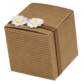 Brown Corrugated Card Square Box