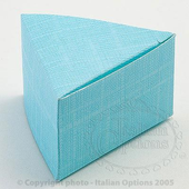 Blue Triangular Wedding or Christening Cake Favour Boxes