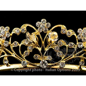 Gold Diamante Bridal Tiara