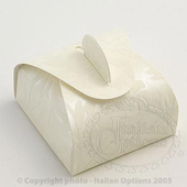 Ivory Astucci Diamante Pannier Wedding Favour Boxes