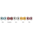 24 Pearlised bow ties (5 colours)