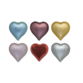 24 Self Adhesive Pearl Hearts (6 colours)