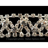 Silver zigzag diamante headband