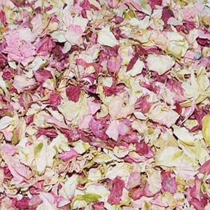 ivory and shades of pink natural delphinium confetti 1litre
